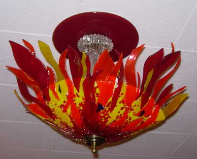 Sun Fire Ceiling Light