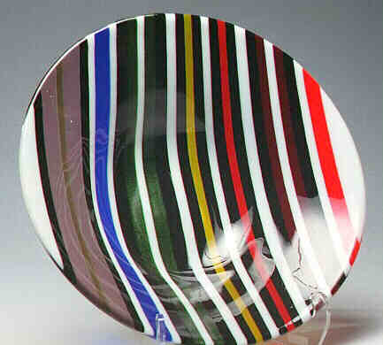 Fused Glass Coat of Colors Bowl