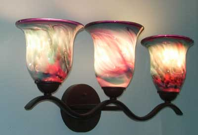 3 Piece Blown Glass Light